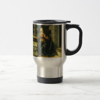 The Annunciation by Leonardo da Vinci Travel Mug