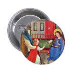 The Annunciation By Oberrheinischer Meister Um 141 Pinback Buttons
