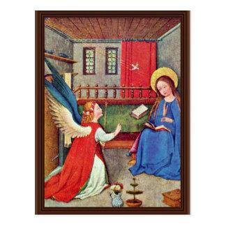 The Annunciation By Oberrheinischer Meister Um 141 Postcard