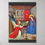 The Annunciation By Oberrheinischer Meister Um 141 Print