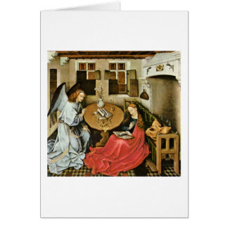 The Annunciation By Robert Campin Greeting Card
