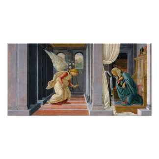 The Annunciation by Sandro Botticelli Card