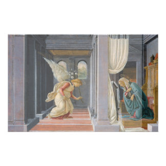 The Annunciation by Sandro Botticelli Full Color Flyer
