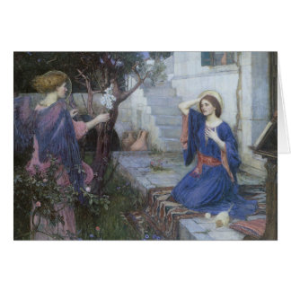 The Annunciation by Waterhouse, Christmas Angels Card