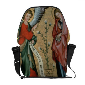 The Annunciation, c.1330 (oil on panel) Messenger Bag
