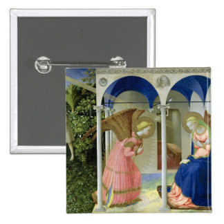The Annunciation, c.1430-32 Pinback Buttons