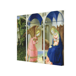 The Annunciation, c.1430-32 Canvas Print