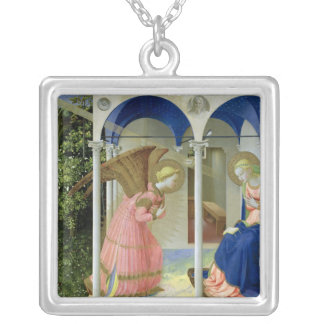 The Annunciation, c.1430-32 Silver Plated Necklace