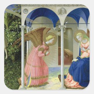 The Annunciation, c.1430-32 Square Sticker