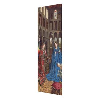 The Annunciation, c. 1434- 36 (oil on canvas) Canvas Print