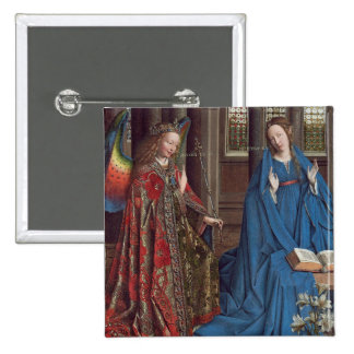 The Annunciation, c. 1434- 36 (oil on canvas) Pinback Button