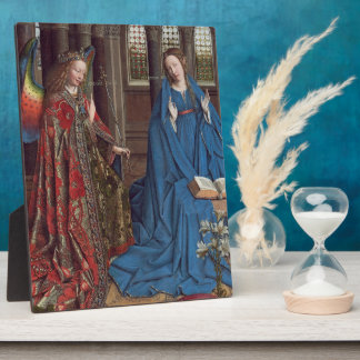 The Annunciation, c. 1434- 36 (oil on canvas) Plaque
