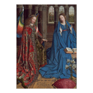 The Annunciation, c. 1434- 36 (oil on canvas) Poster