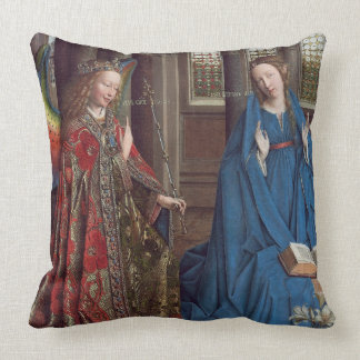 The Annunciation, c. 1434- 36 (oil on canvas) Throw Pillow