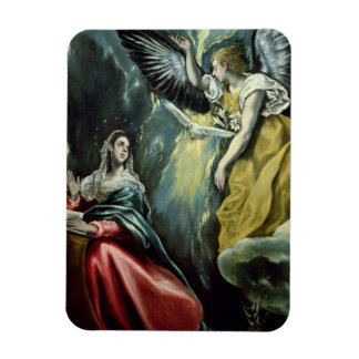 The Annunciation, c.1575 (oil on canvas) Rectangular Magnet