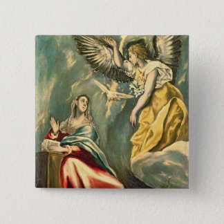The Annunciation, c.1595-1600 Pinback Button