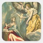The Annunciation, c.1595-1600 Square Sticker