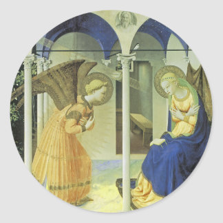 The Annunciation Classic Round Sticker