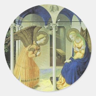 The Annunciation Classic Round Sticker