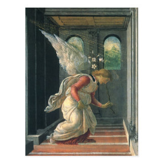 The Annunciation (detail) by Botticelli Postcard