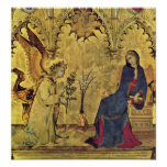 The Annunciation Detail by Simone Martini Poster