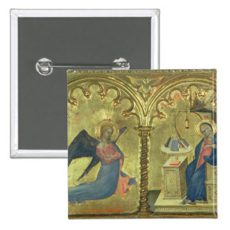 The Annunciation, detail from a polytych depicting Pinback Button