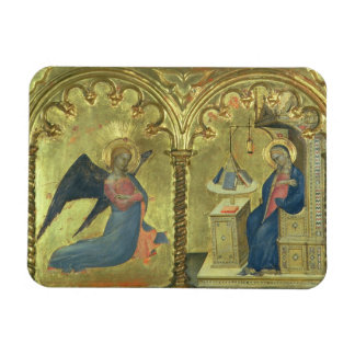 The Annunciation, detail from a polytych depicting Rectangle Magnet