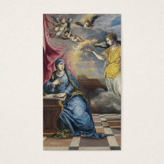 The Annunciation - El Greco Business Card
