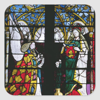 The Annunciation, from the Chapel of Jacques Coeur Square Stickers