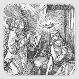 The Annunciation from the 'Small Passion' Square Sticker