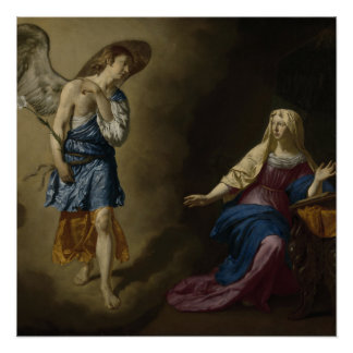 The Annunciation of Mary, Velde Poster