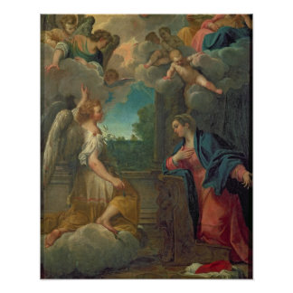 The Annunciation (oil on canvas) 2 Poster