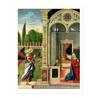 The Annunciation (oil on panel) 2 Postcard