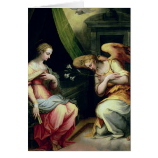 The Annunciation (oil on panel) 3 Card