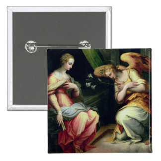 The Annunciation (oil on panel) 3 Pinback Button