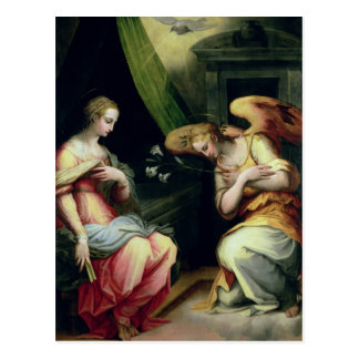 The Annunciation (oil on panel) 3 Postcard