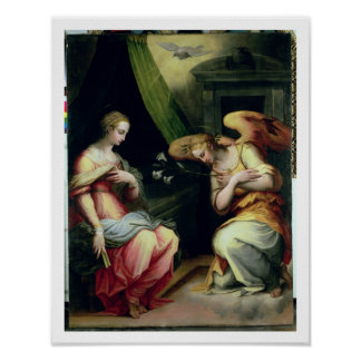 The Annunciation (oil on panel) 3 Poster