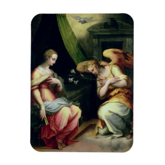 The Annunciation (oil on panel) 3 Rectangular Photo Magnet