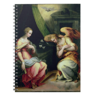 The Annunciation (oil on panel) 3 Spiral Notebook