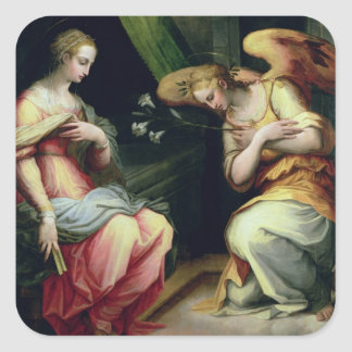 The Annunciation (oil on panel) 3 Square Sticker