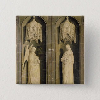The Annunciation, outer panel from the Triptych Pinback Button