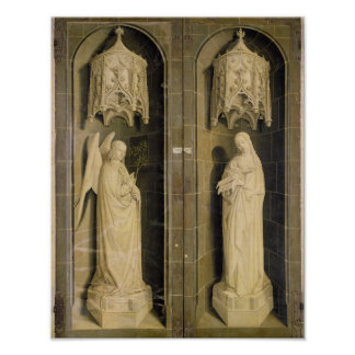 The Annunciation, outer panel from the Triptych Poster