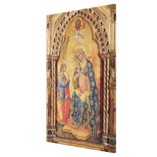 The Annunciation (part of polyptych) (oil on panel Canvas Print