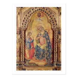 The Annunciation (part of polyptych) (oil on panel Postcard
