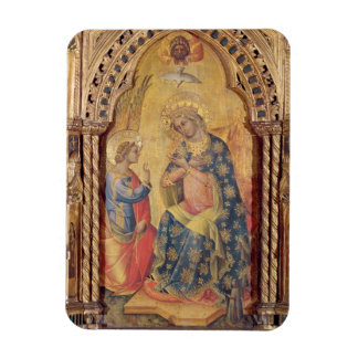The Annunciation (part of polyptych) (oil on panel Rectangle Magnet