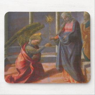 The Annunciation (predella of the Barbadori Altarp Mouse Pad