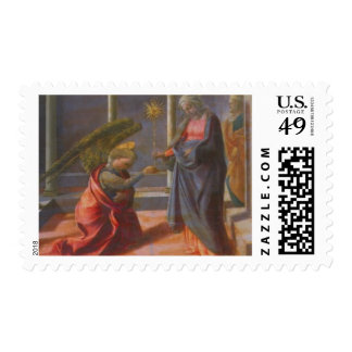 The Annunciation (predella of the Barbadori Altarp Postage