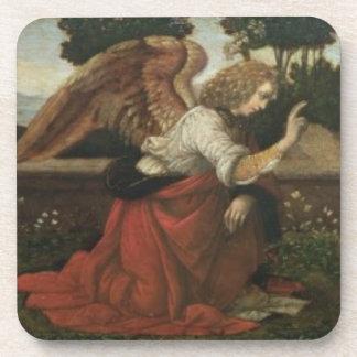 The Annunciation, predella panel from an altarpiec Beverage Coaster