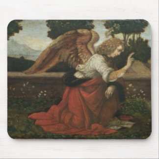 The Annunciation, predella panel from an altarpiec Mouse Pad