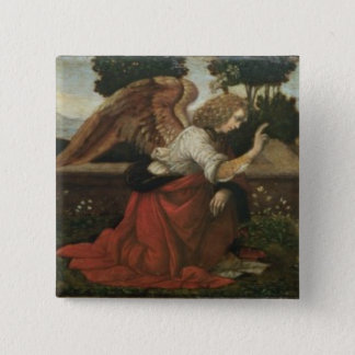 The Annunciation, predella panel from an altarpiec Pinback Button